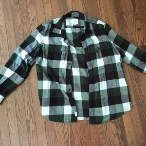 American Eagle Green and Black Flannel